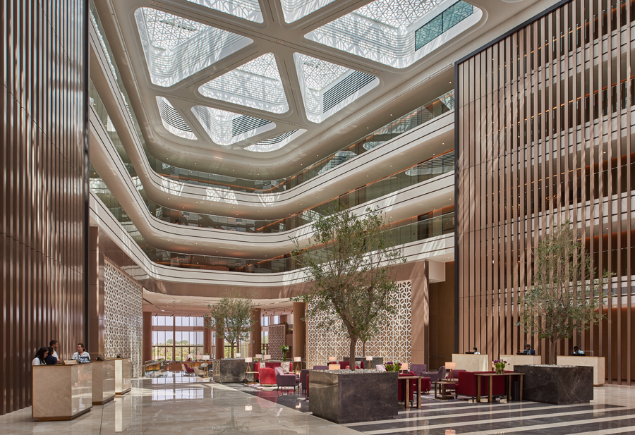 Atrium space | JA Lake View Hotel
