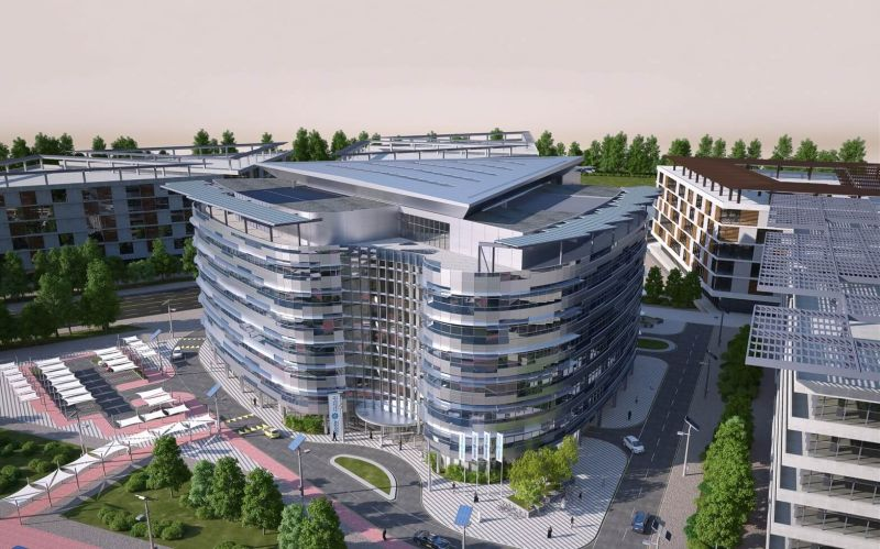 The icon of sustainable architecture is delivered