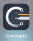 Concepts App Icon - touchscreen advancements