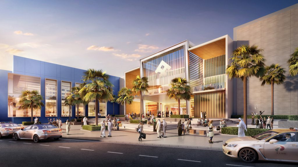 Big Box Retail Mall Dubai architecture