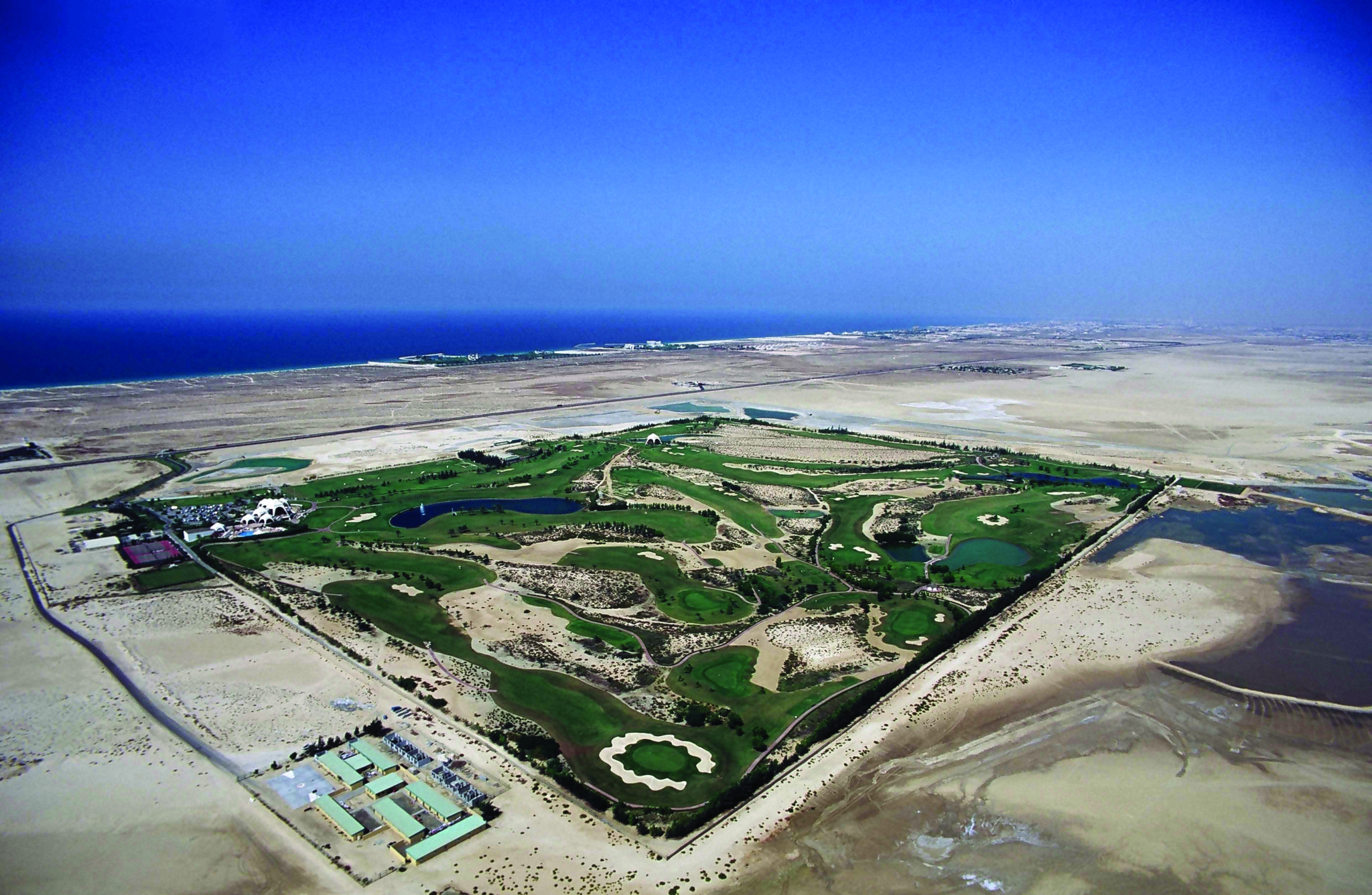 Emirates Golf Club aerial shot