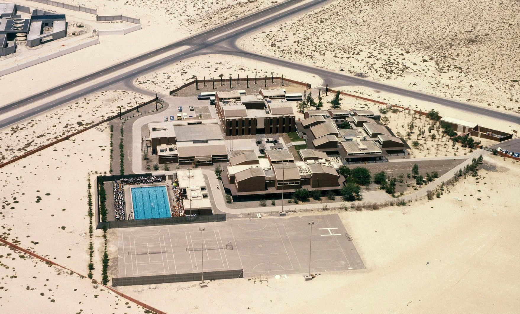 Dubai College aerial shot