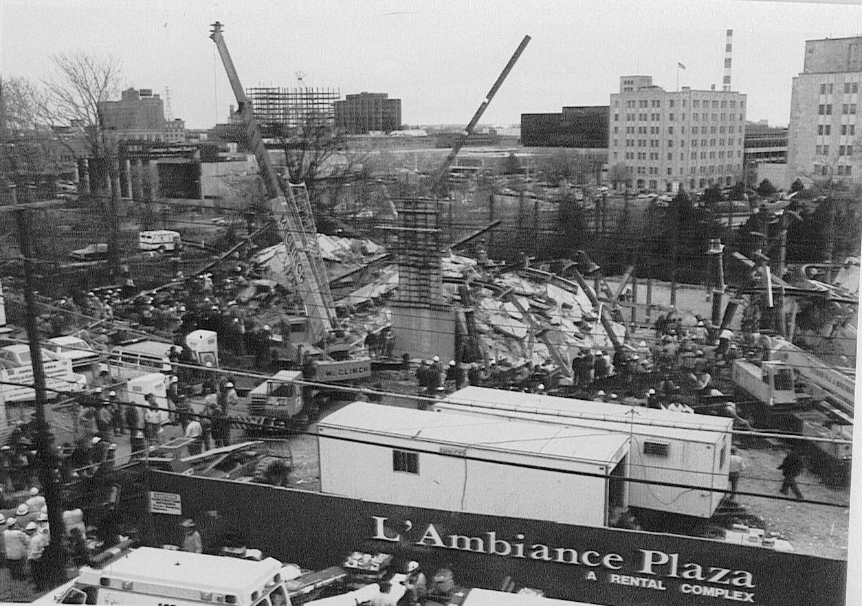 L'Ambiance Plaza suffered progressive collapse during construction