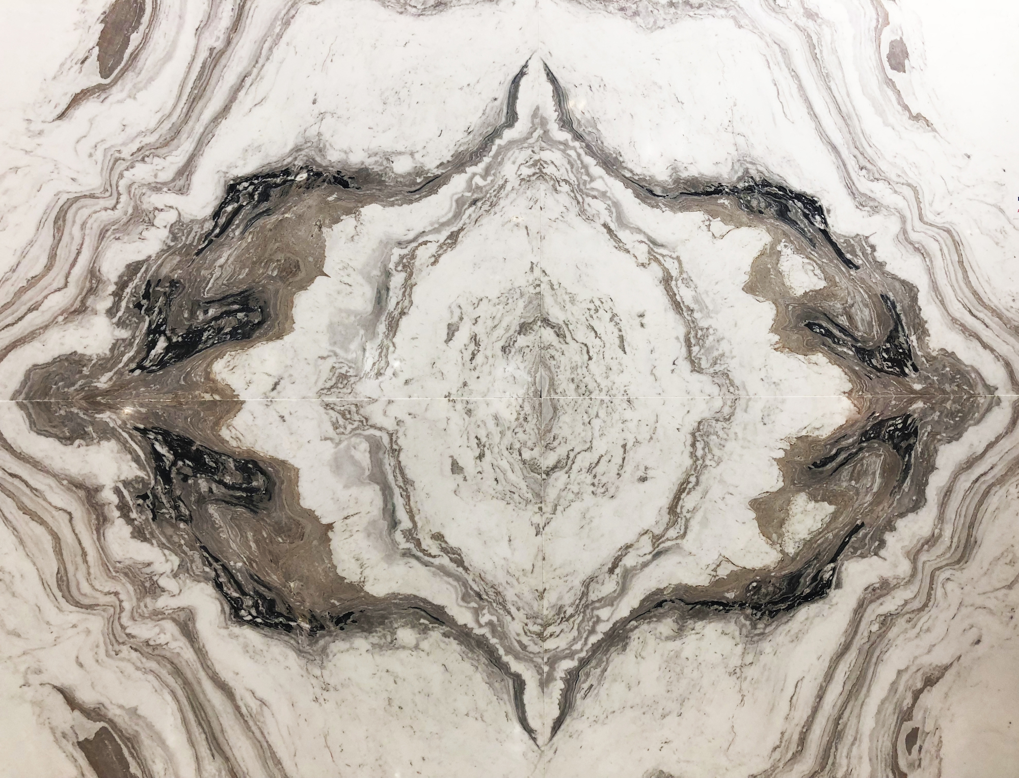 Book-matched marble Middle East Stone
